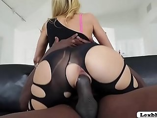 Busty Blonde Milf Alexis Fawx gets an interracial plowing from Lex