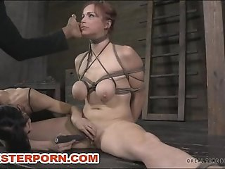 BDSM Slave Bella Rossi Training Live