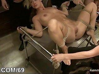 Interracial bondage sex