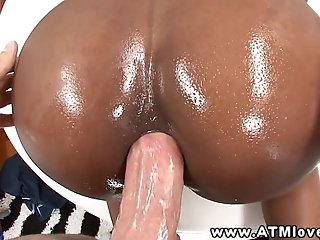 Anal ebony babe butt fucked in hot high def