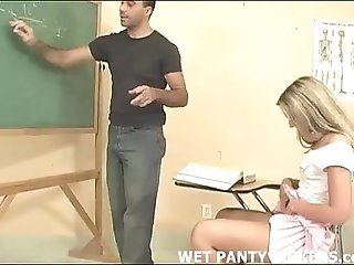 Hot teacher makes this schoolgirls panties wet