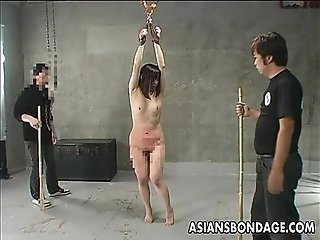 Asian slut getting ass spanked and she screams