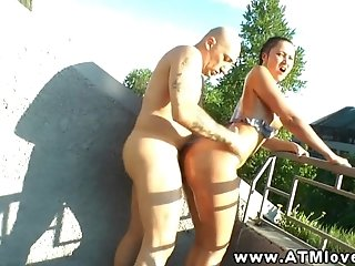 Anal sluts outdoors sucking dick and want cum