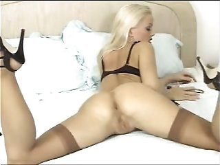 Silvia Saint Masturbation Vibrator Lingerie Stockings
