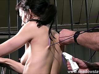 Slave Elise Graves needle bdsm and artistic punishment to tears of decorated mas