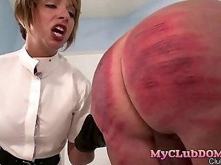 Mistress loves whipping old man