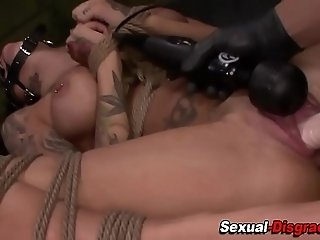 Bdsm whore gets railed